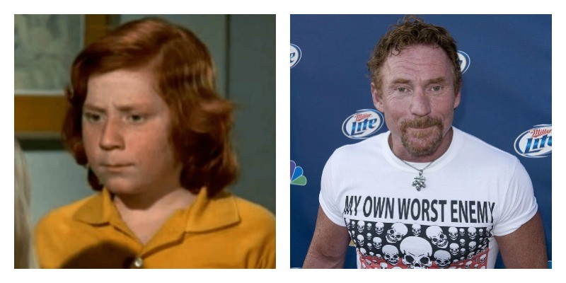 On the left is a picture of Danny Bonaduce on The Partidge Family. On the right is a picture of Danny Bonaduce at an event.