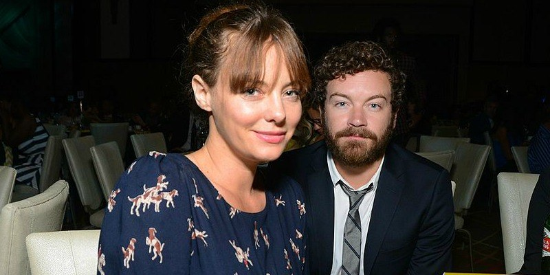 Danny Masterson and wife, Bijou Phillips sitting next to each other