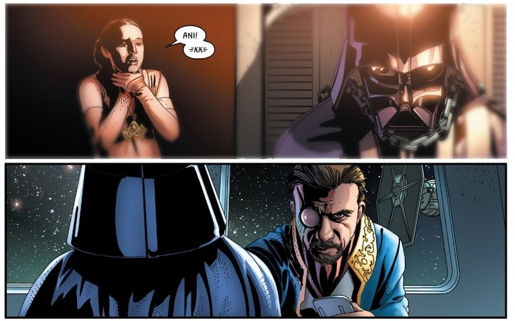 Darth Vader kills Anakin Skywalker