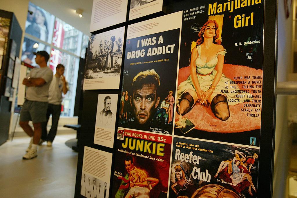Sensationalized vintage entertainment posters