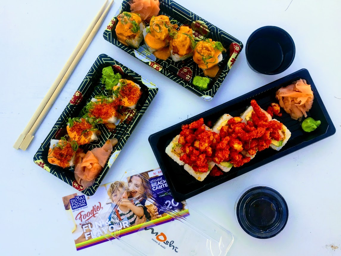 sushi with Cheetos on top