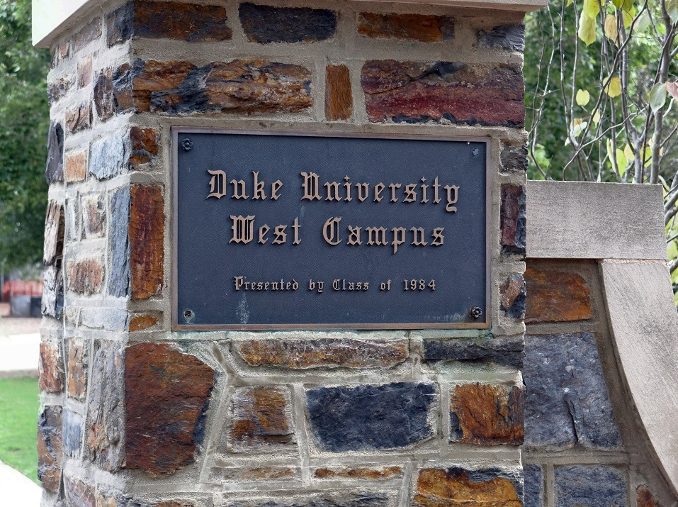 An entrance to Duke University