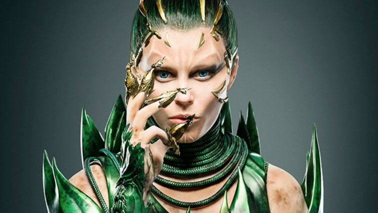 Elizabeth Banks in costume in Power Rangers