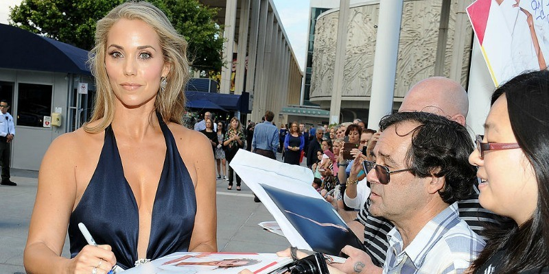 Elizabeth Berkley signing autographs at Dizzy Feet Foundation's Celebration Of Dance Gala at The Music Center.