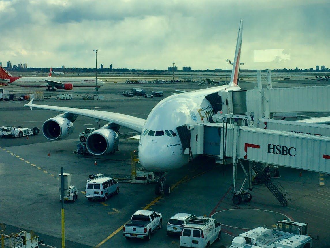Emirates A380 plane