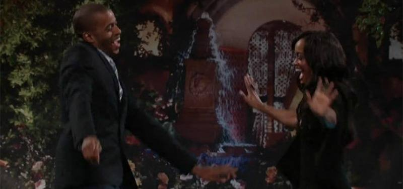 """Eric and Rachel dancing on """"After the Final Rose."""""""