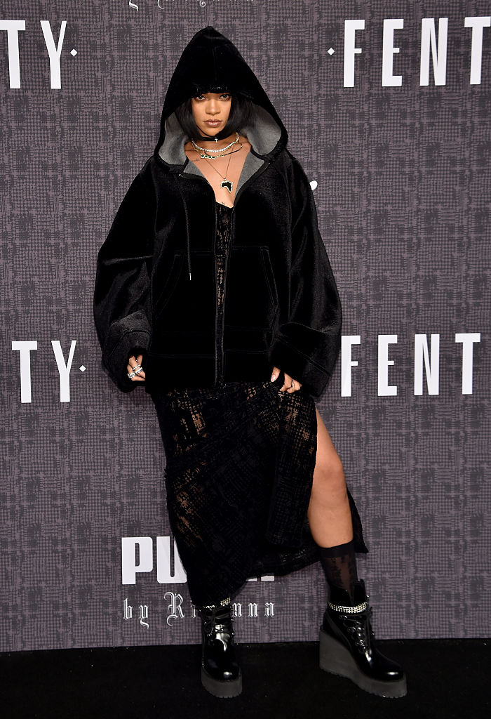 ihanna attends the FENTY PUMA by Rihanna AW16 Collection during Fall 2016