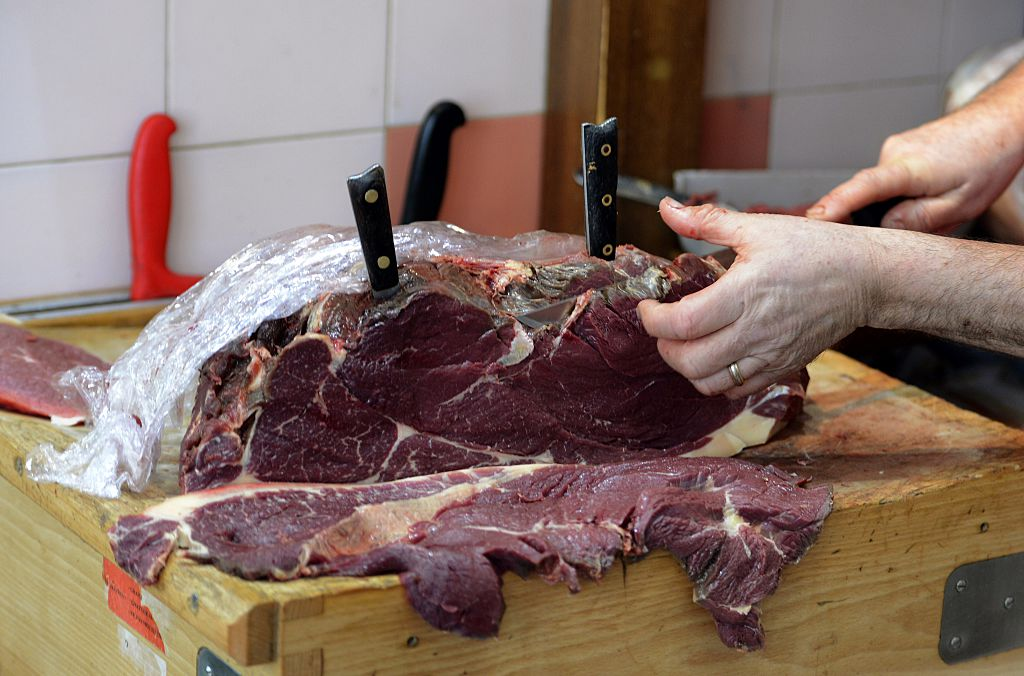 horse meat at a butcher