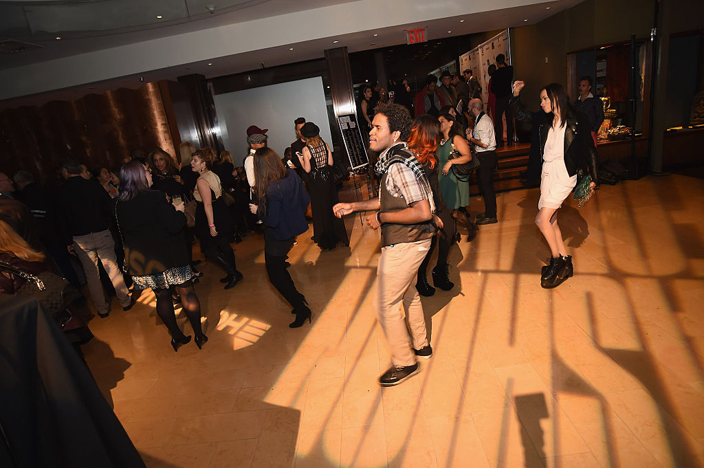 A view of atmosphere at Fashion For Action at The Rubin Museum of Art