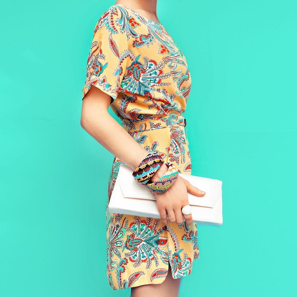 Fashion lady. Beach style