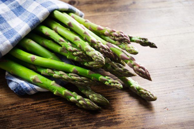 asparagus in a bundle