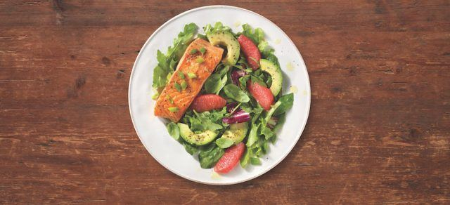 Fresh salmon citrus salad