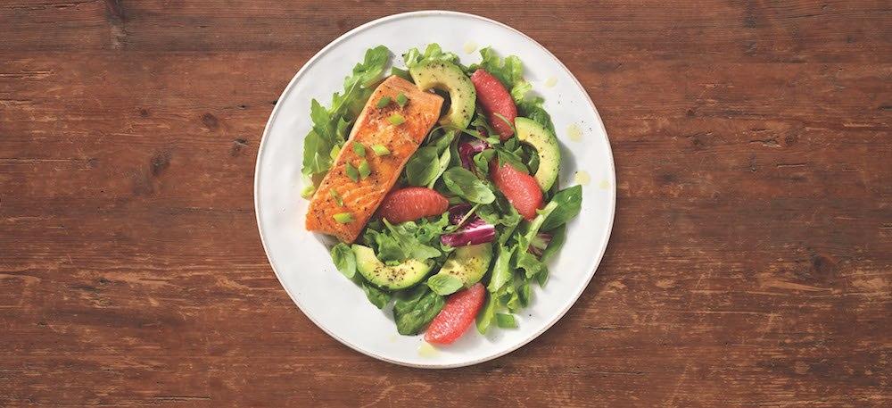 Fresh salmon citrus salad