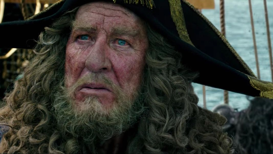 Geoffrey Rush in the new Pirates of the Caribbean trailer