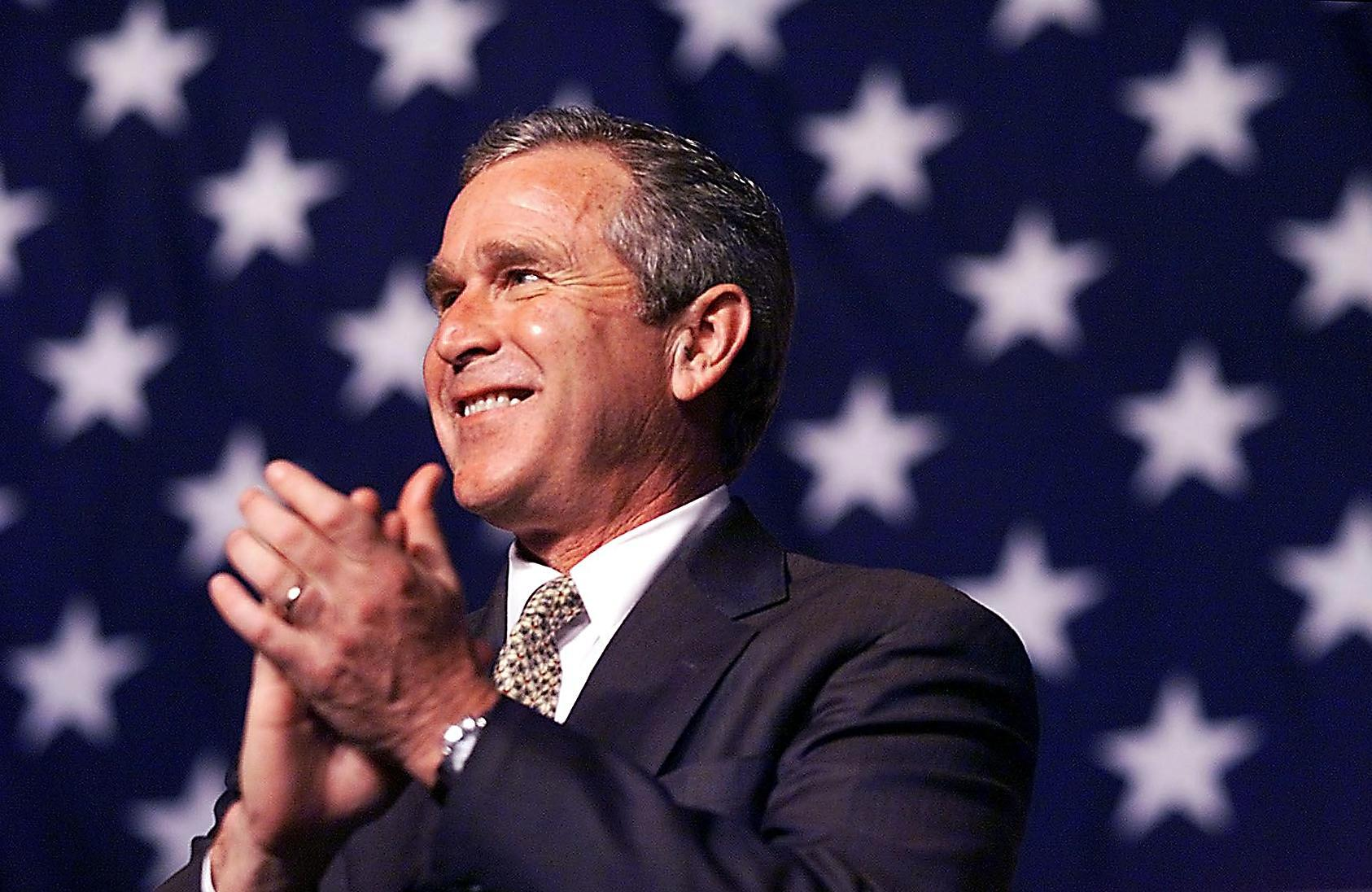 Republican presidential candidate George W. Bush