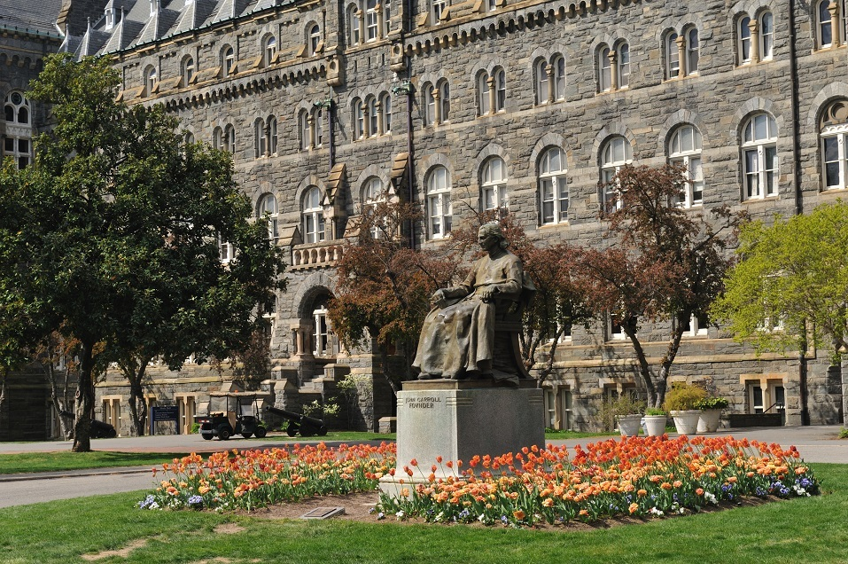 The statue of Georgetown University