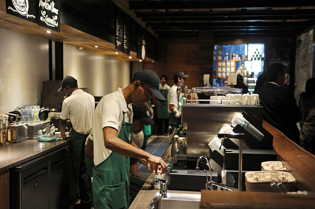 Starbucks outlet in New Delhi
