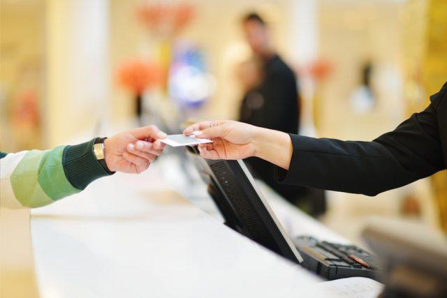 paying at hotel front desk