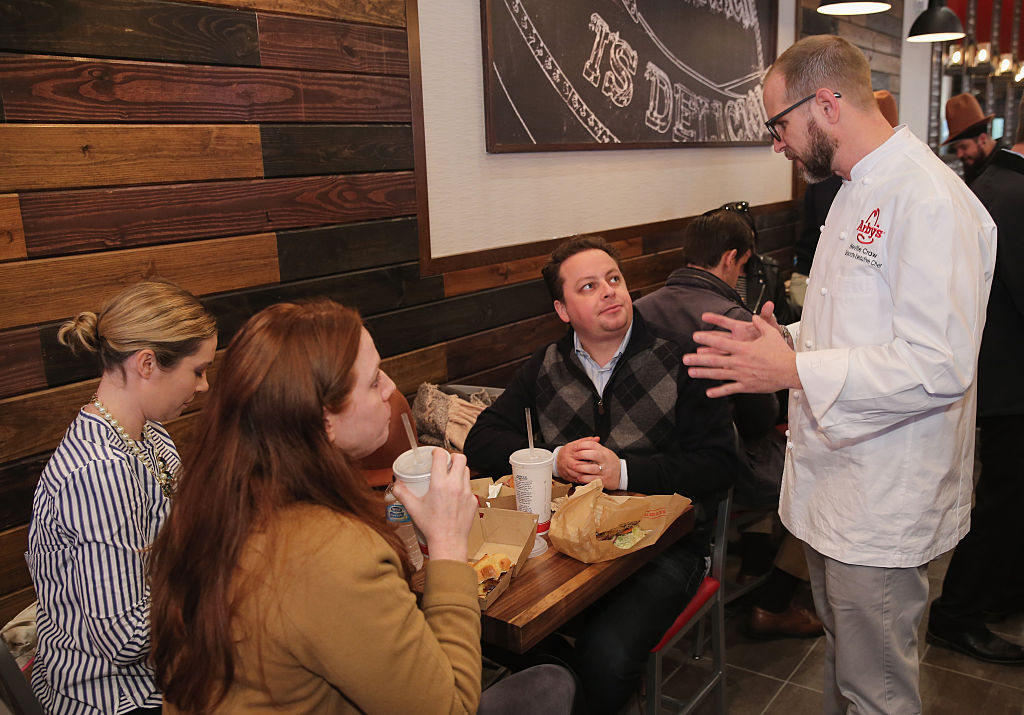 Arby's Corporate Executive greets guests