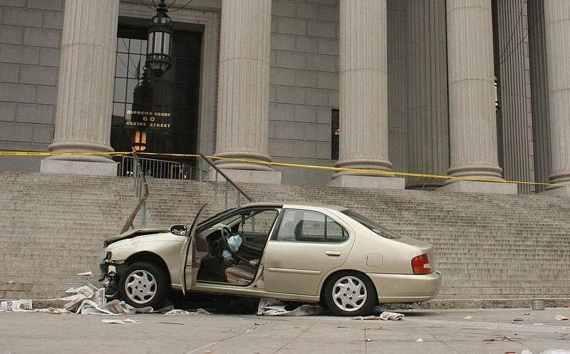 car crash in Manhattan