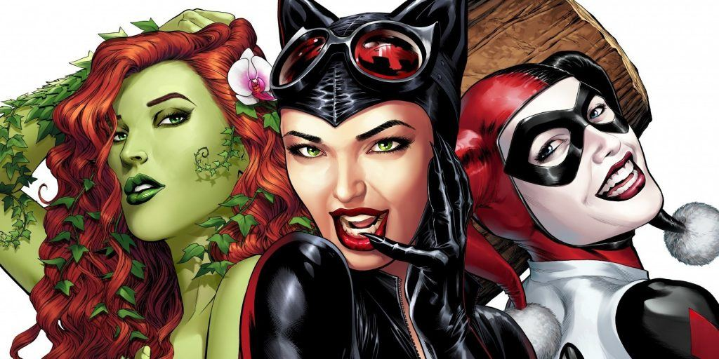 Poison Ivy, Catwoman, and Harley Quinn