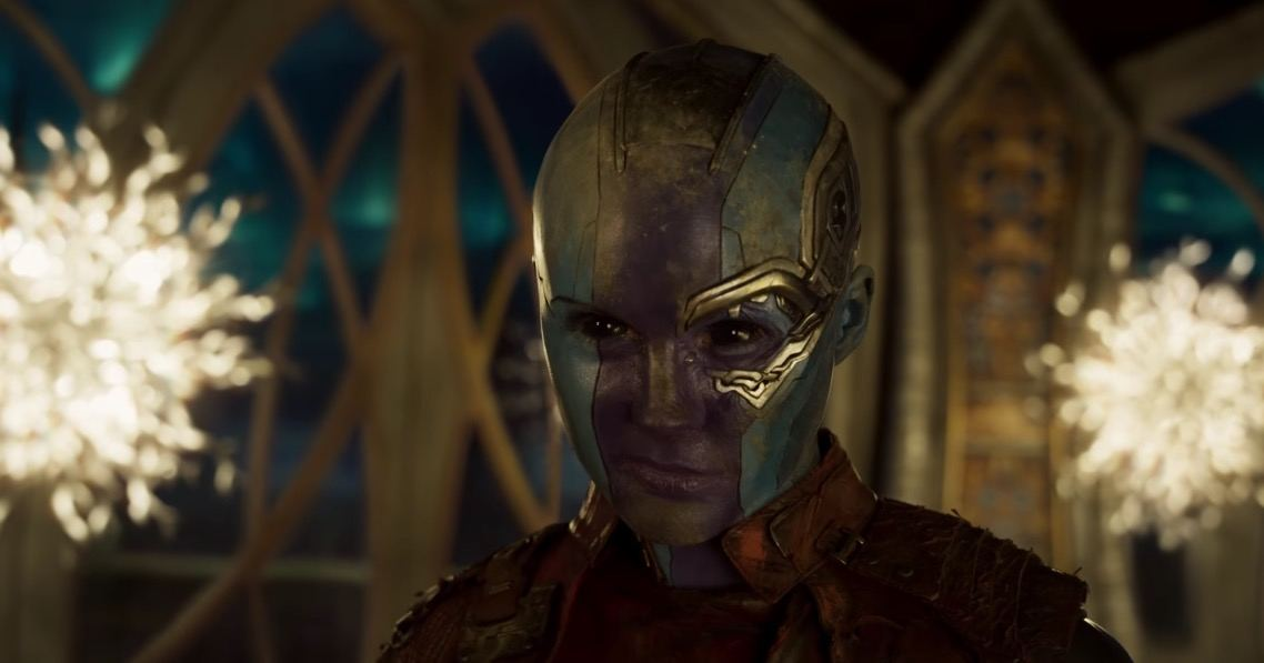 Karen Gillan as Nebula in Guardians of the Galaxy Vol. 2