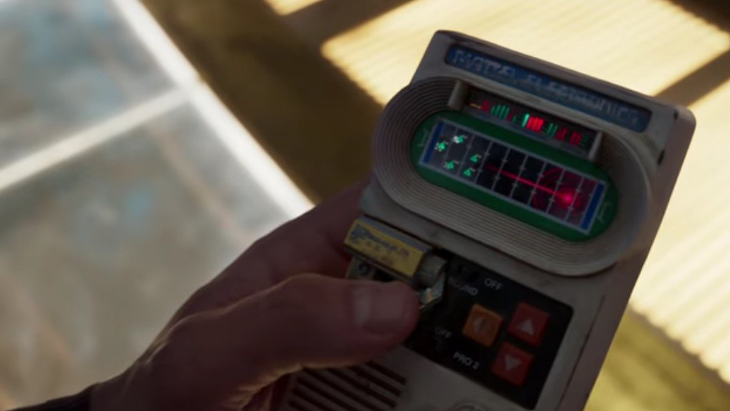 Star-Lord uses some old-school earth technology