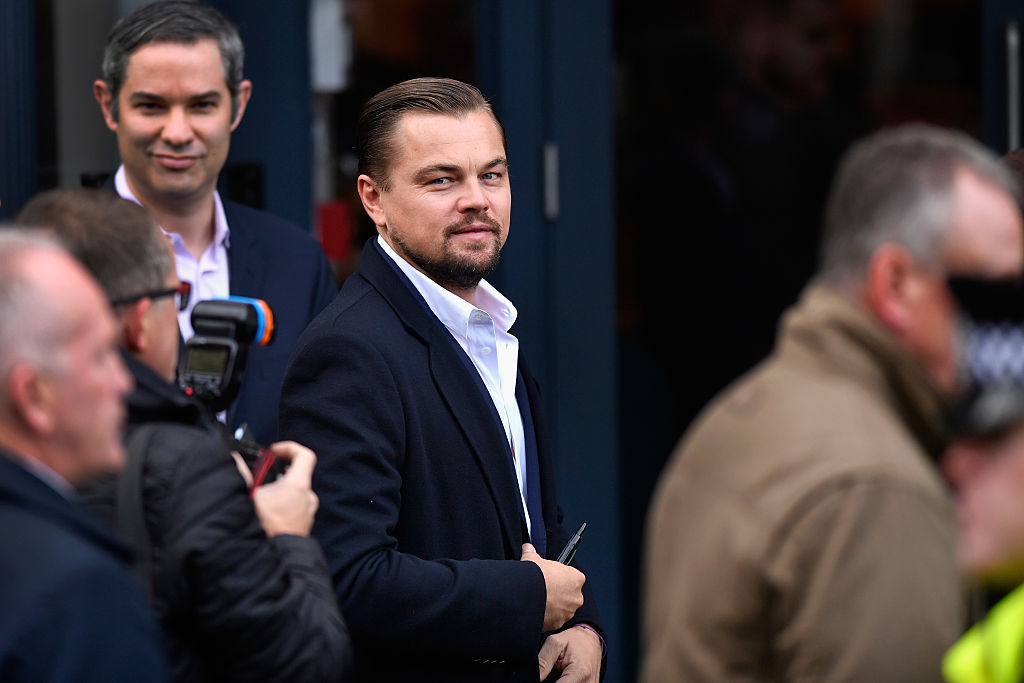 Hollywood actor Leonardo DiCaprio arrives at Home restaurant