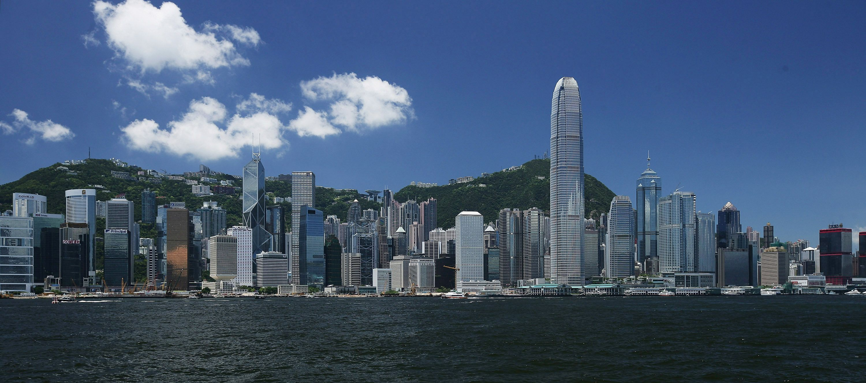 A view of the Victoria Harbour in Hong Kong