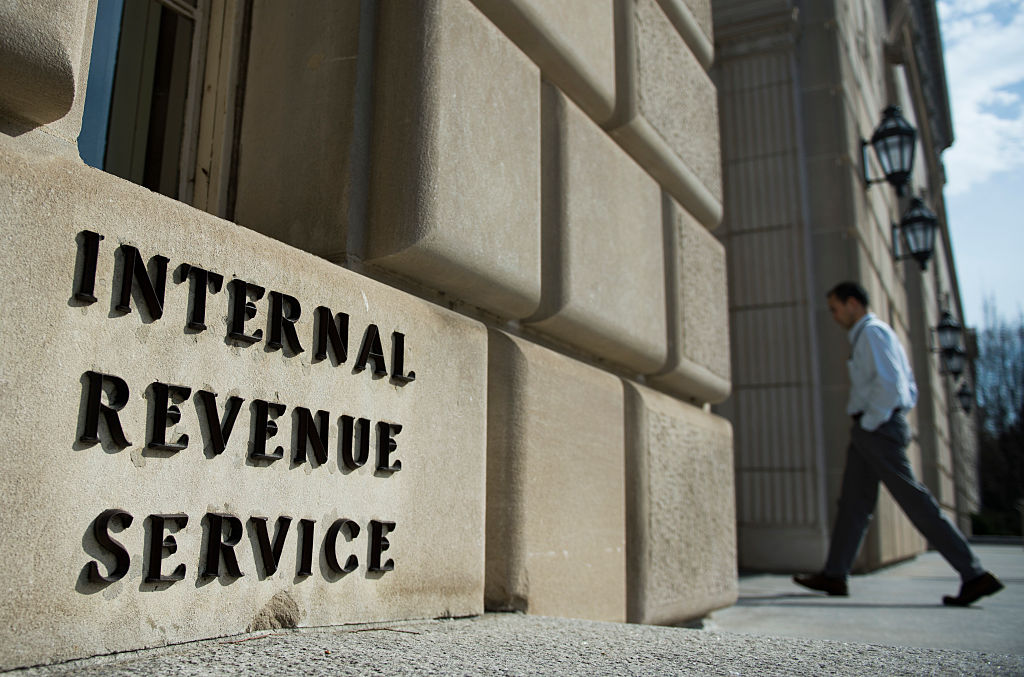 the exterior of the IRS building