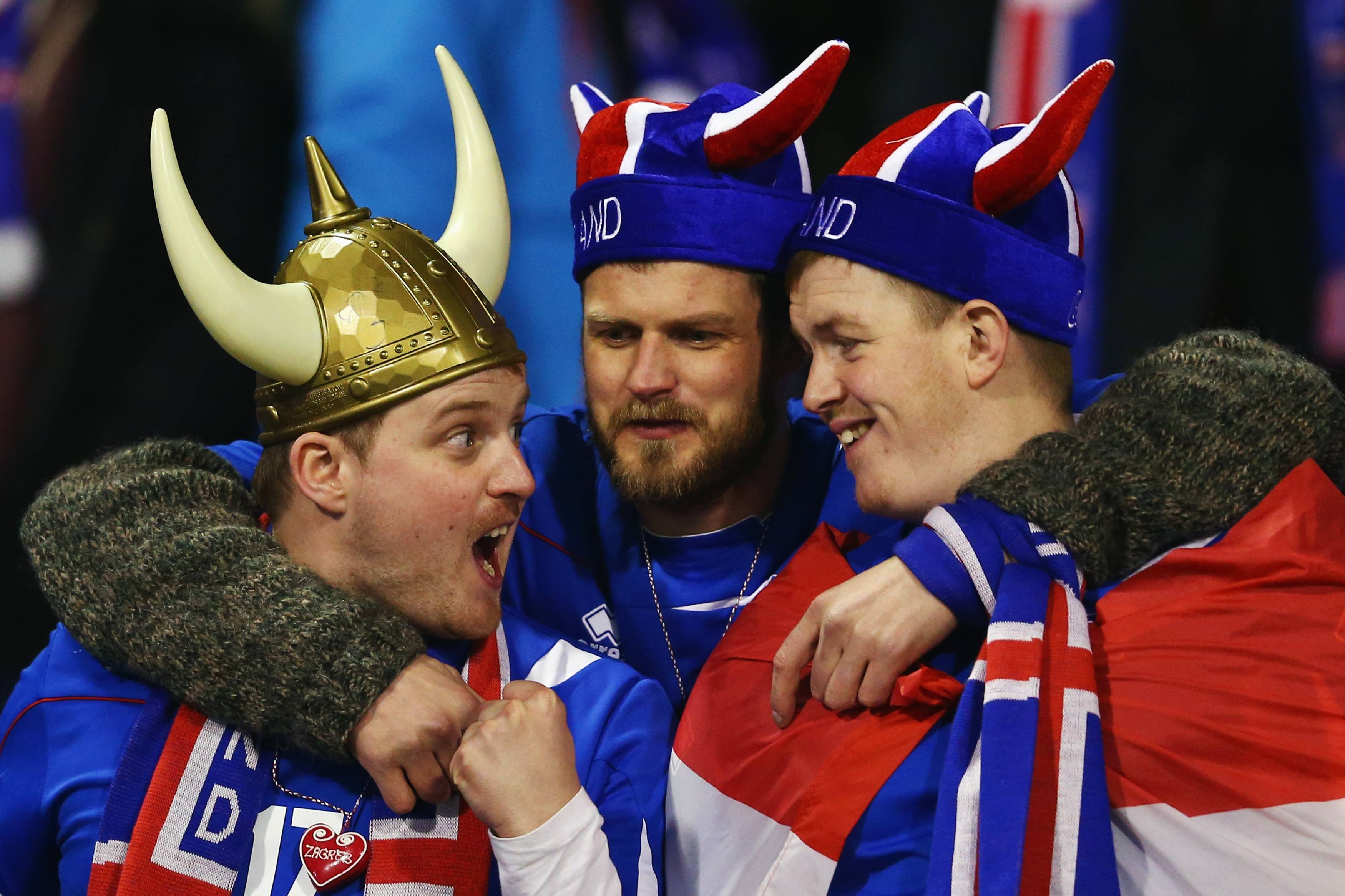 Fans of Iceland at the 2014 World Cup