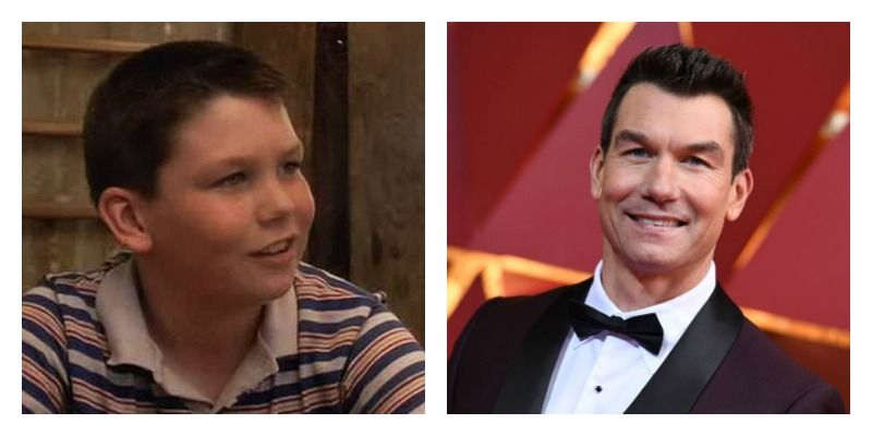 On the left is a picture of Jerry O'Connell in Stand by Me. On the right is Jerry O'Connell attending the Oscars.
