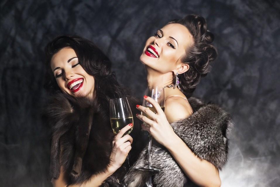 Young happy fashion women