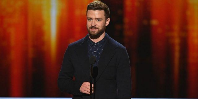 Justin Timberlake onstage during the People's Choice Awards 2017.