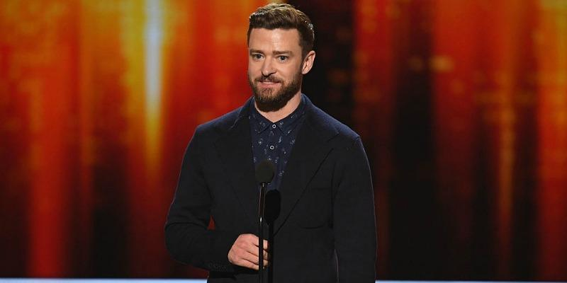 Justin Timberlake on stage during the People's Choice Awards 2017