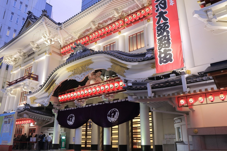 You'll find both history and drama at the Kabukiza Theatre in Tokyo, Japan
