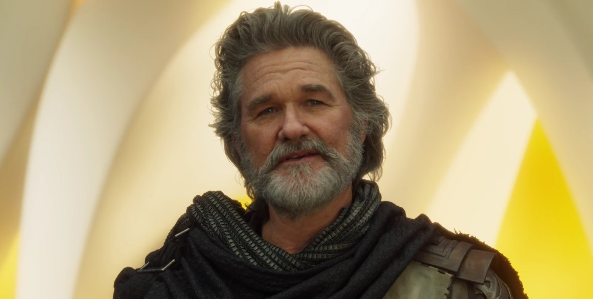 Kurt Russell as Ego in Guardians of the Galaxy 2