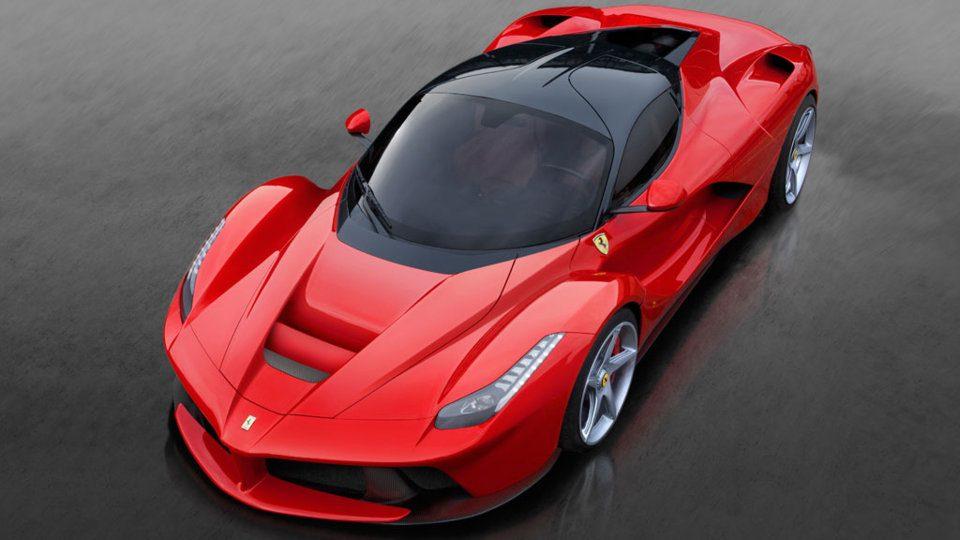 Red Ferrari LaFerrari hybrid supercar