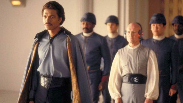 Lando Calrissian leads a group in 'The Empire Strikes Back'.
