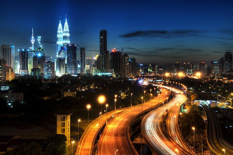View of Malaysia's capital, Kuala Lumpur