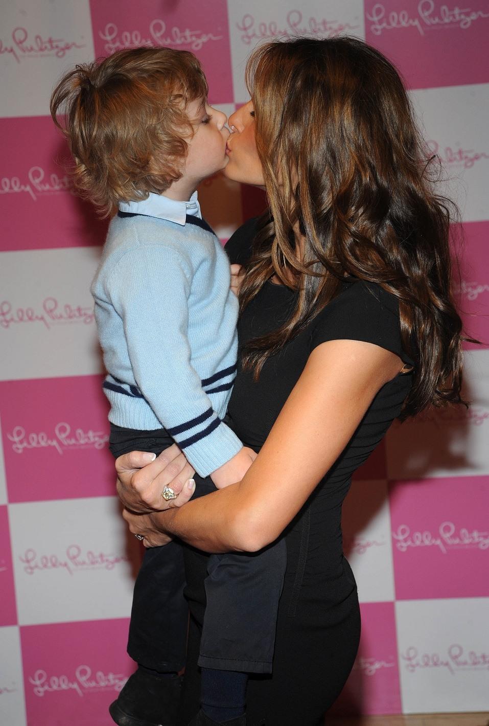 Melania Trump with her son Barron Trump