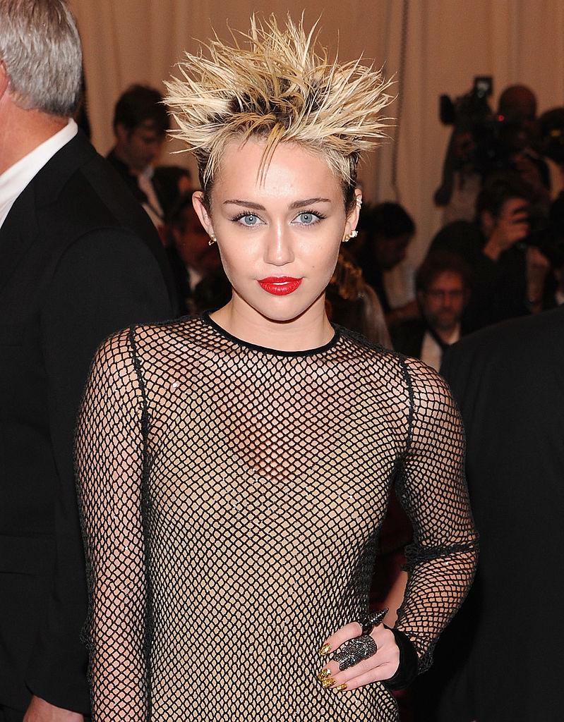 "Miley Cyrus attends the Costume Institute Gala for the ""PUNK: Chaos to Couture"" exhibition"