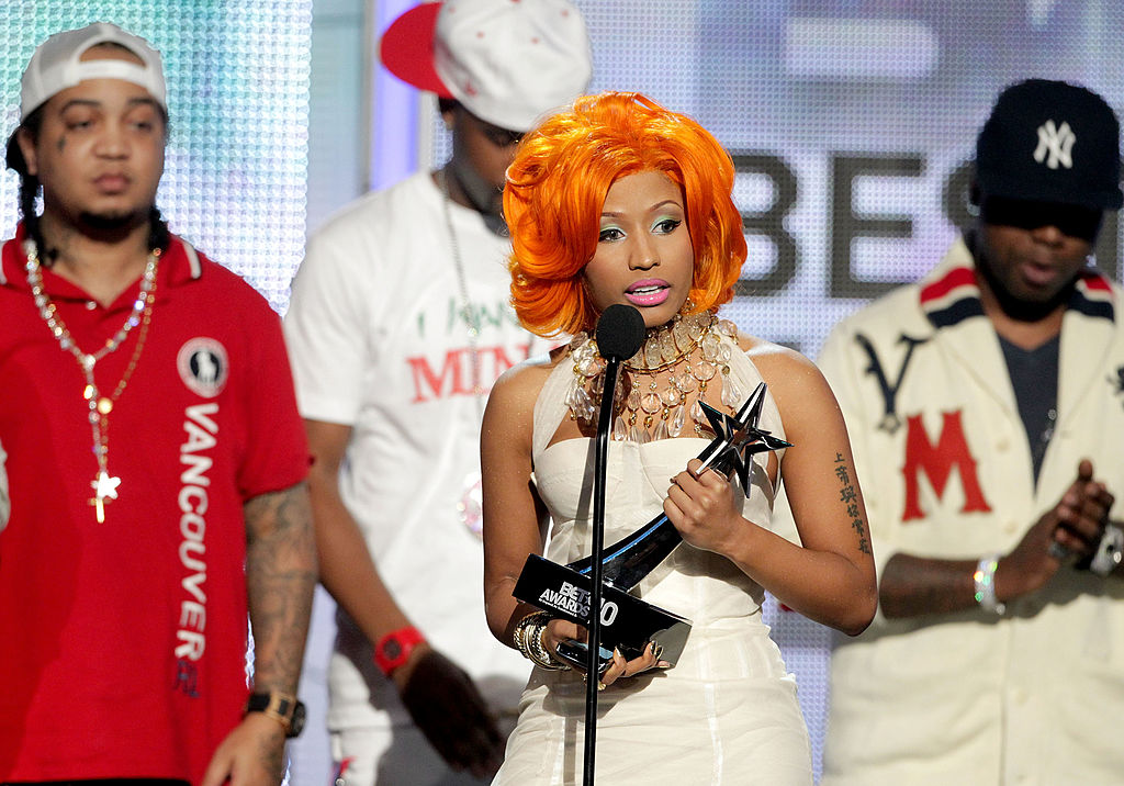 Musician Nicki Minaj accepts the awards
