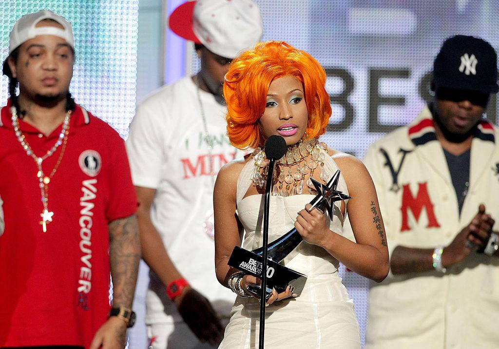 Musician Nicki Minaj accepts the awards