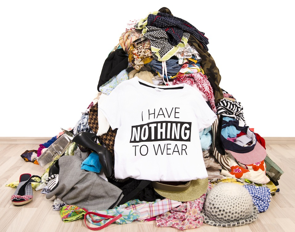 Pile of untidy clothes