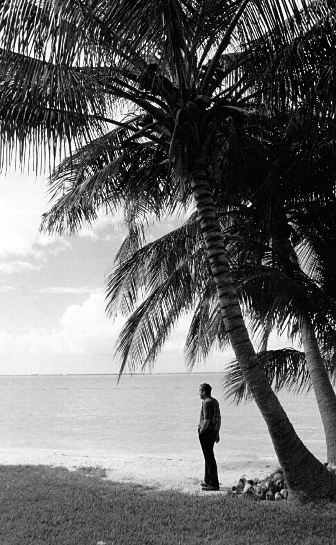 President Richard Nixon on a beach in Key Biscayne, FL