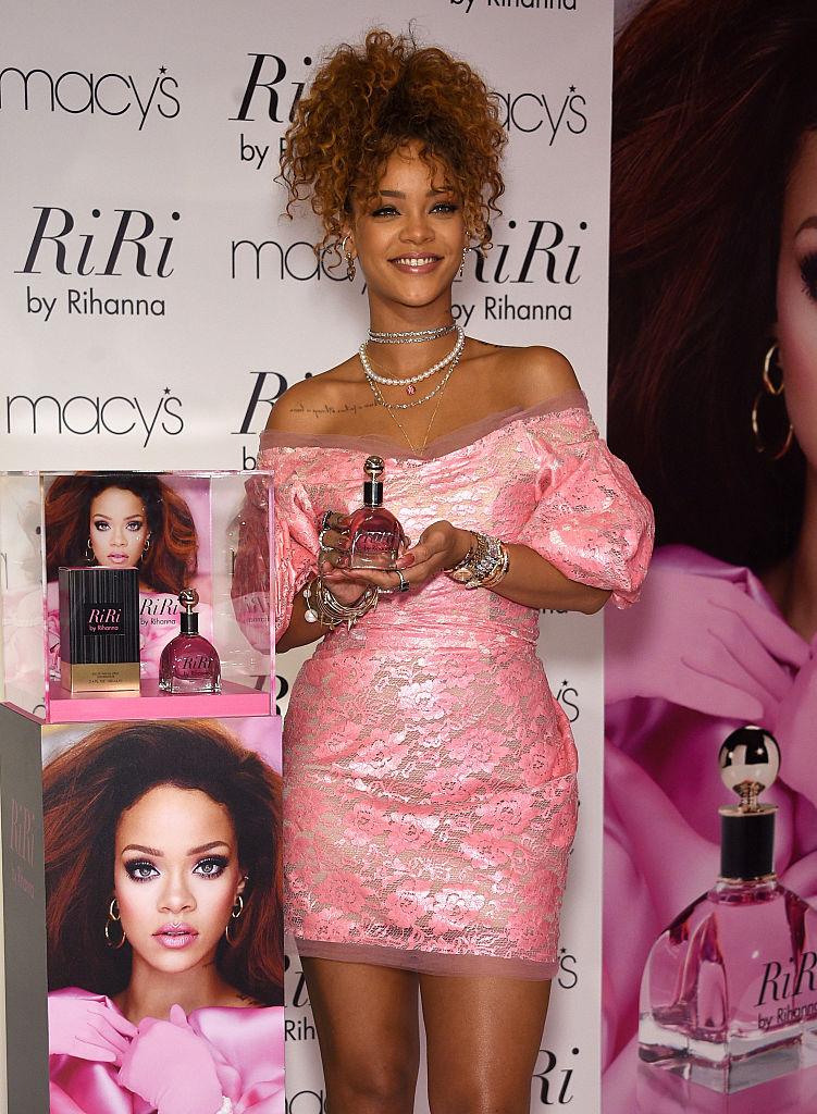 Rihanna attends the RiRi by Rihanna fragrance