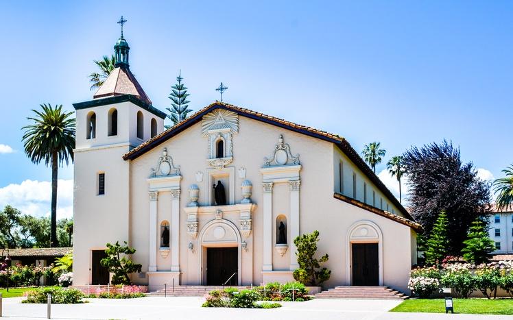 A building on campus at Santa Clara University
