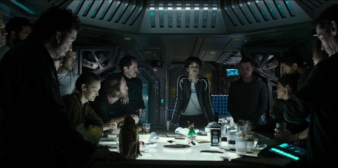 The crew of the Covenant in the newest Alien movie