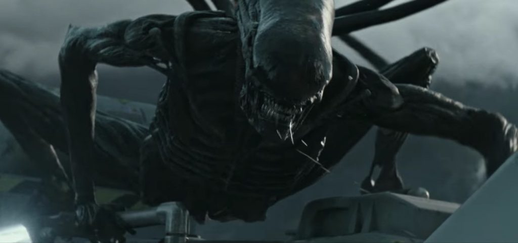 The Xenomorph comes out in Alien: Covenant